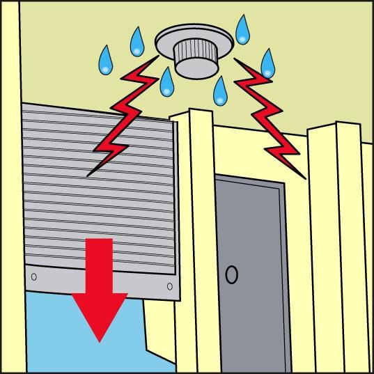 湿気によるセンサー誤差号のイラストです