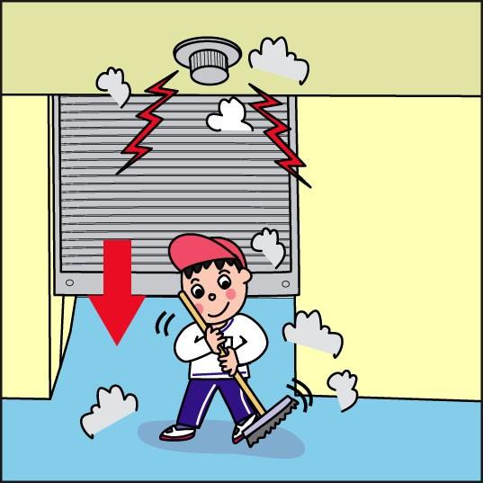 掃除による埃でセンサーが誤差号を起こすイラストです